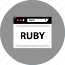 code, development, ruby, web icon