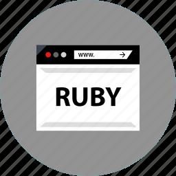 code, development, ruby, web icon