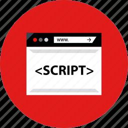 coding, development, script, web icon