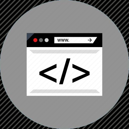 brackets, code, development, web icon