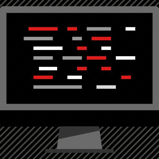 design, pc, script, web icon