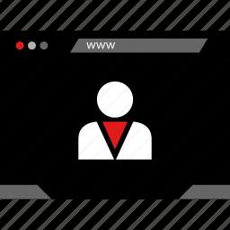data, person, user, web icon