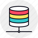 center, data, database, host, network, server icon