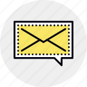 ask, bulk, dialog, instant, mail, message, voice icon