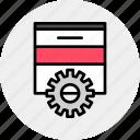 build, develop, development, page, progress, web, website icon
