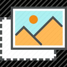 content, cut, develop, edit, frame, image, picture, place icon