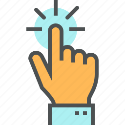 click, finger, gesture, hand, screen, touch, touching, touchscreen icon