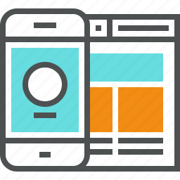content, interface, mobile, page, smartphone, ui, web, website icon