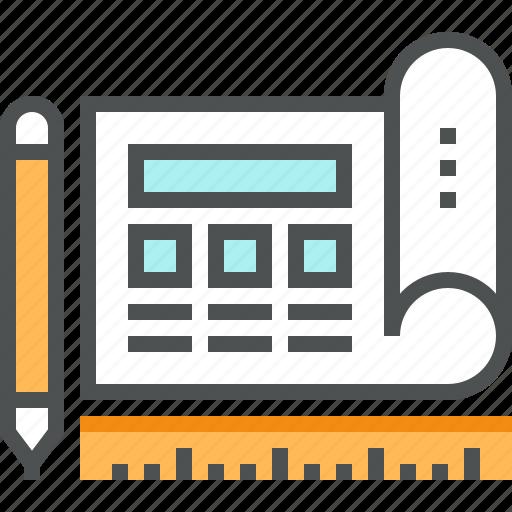 Blueprint, data, design, prototype, prototyping, sketch, web icon - Download on Iconfinder