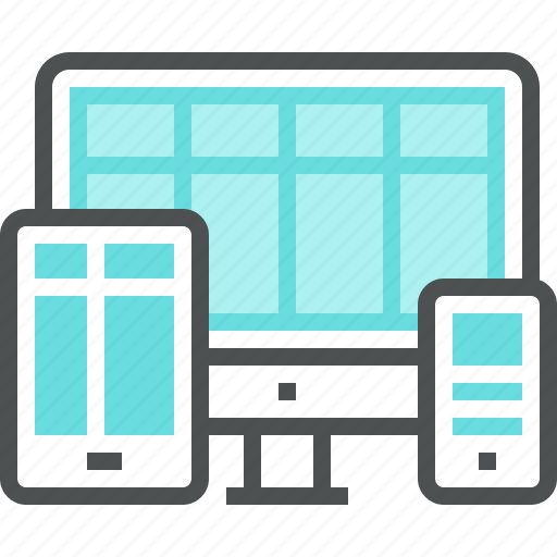 computer, digital tablet, display, layout, mobile, responsive, screen, web, website icon