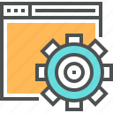 building, cogwheel, engineering, gear, optimization, seo, web, website icon