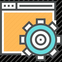 building, cogwheel, engineering, gear, optimization, seo, web, website icon