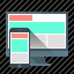 adaptive, computer, design, development, device, programming, responsive design icon
