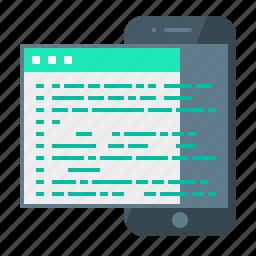 adaptive, adaptive coding, code, coding, development, mobile, programming icon