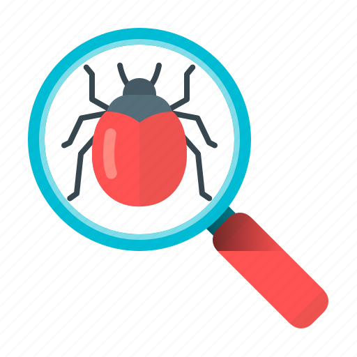 bug, bug search, development, magnifier, magnifying, programming, search icon