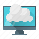 cloud, computing, data, development, network, web icon