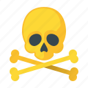 caution, danger, error, hazard, problem, skull, warning icon
