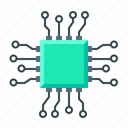 chip, cpu, hardware, microchip, programming icon