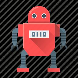 artificial intelligence, dron, machine, program, programming, robot, technology icon