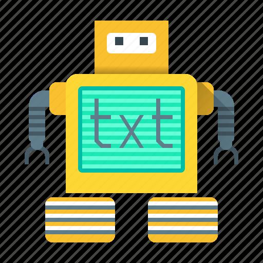 development, internet, programming, robot, robot txt, txt, web icon