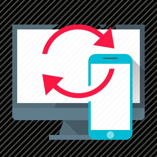 app, communication, development, mobile, programming, sync, synchronization icon