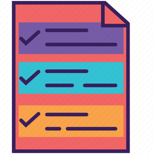 checklist, checkmark, clipboard, plan, tasks, todo list icon