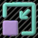 web, development, arrow, minimize, resize, shape, window