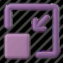 web, development, minimize, resize, arrow, shape, window