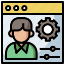 gears, human, management, manager, options, resources, settings, tools, work icon