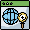 glass, interface, loupe, magnifying, search, seo, tool, ui, web, zoom icon