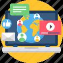 creative, design, designing, development, multimedia, social, web icon