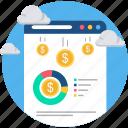 budget, creative, design, designing, development, expense, web icon