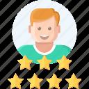 avatar, like, rank, rating, seo, star icon