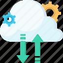 cloud, data, seo, server, service, store, web development icon