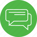 bubble, chat, comment, conversation, message, messaging, talk icon