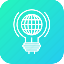 bulb, gear, idea, imagination, innovation, internet, light icon