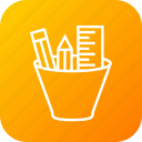 creation, design, drawing, pencil, pocket, ruler, write icon
