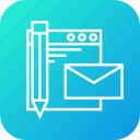 document, email, mail, paper, pen, write icon