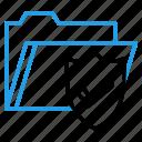 documents, folder, holder, optimization, secure, seo, shield icon