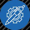 gear, optimization, pen, preferences, settings, web icon