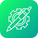 gear, optimization, pen, preferences, settings, web icon