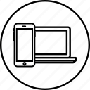 design, mobile, responsive, seo, sync, synchronization icon