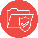 documents, folder, holder, optimization, secure, seo, shield icon