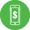 device, dolar, money, pay, phone icon