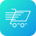 cart, checkout, fast, shopping, trolley icon