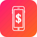 device, dolar, money, pay, phone icon