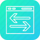 arrow, envelope, file, marketing icon