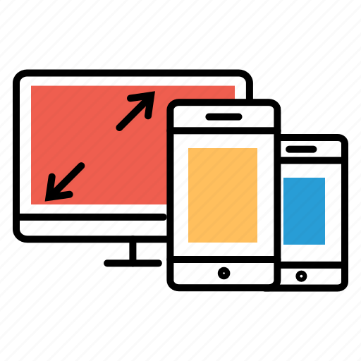 adaptive, desin, responsive, responsive design, we, web design icon