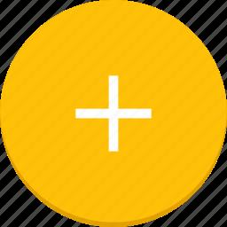 add, design, material, plus icon