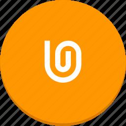 attach, design, mail, material icon
